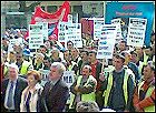 Part of the Gama workers demonstration
