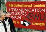 Postal workers demonstrate