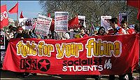 Socialist Students and ISR on anti-war demo this year