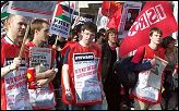 ISR on the march against the war on Iraq 2005