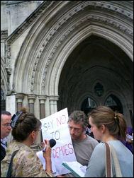 Socialist Party member Rob MacDonald meets the press