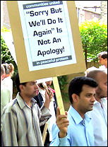 Demanding an apology from the Metropolitan police