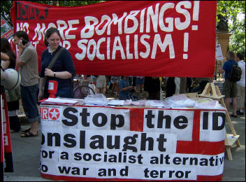 International Socialist Resistance campaign on anti-war demo