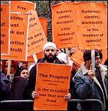 Protest against anti-Muslin cartoons