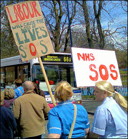 Stoke demonstration against NHS cuts