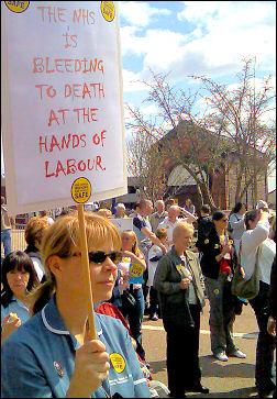 Stoke NHS demonstration