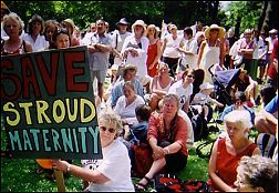 Save Stroud maternity banner - demo in June