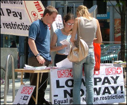 ISR campaigning against low pay in Cardiff