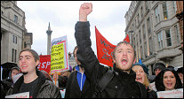 Socialist Party on the climate change demo December 2007, pic Paul Mattsson