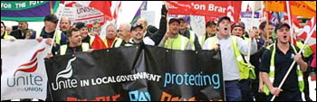 Socialist Party on anti-war demonstration in 2005. Photo, Alison Hill