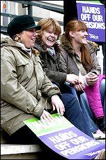 Pensions strikers