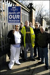 Pensions strikers