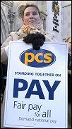 PCS worker on strike