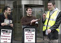 Civil servants on strike