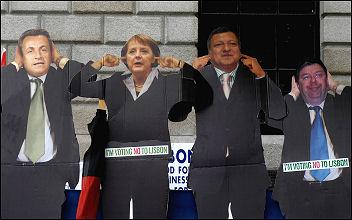 Campaign for a No vote in the referendum of the Lisbon Treaty, photo Paul Mattsson