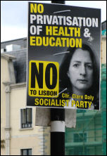 Socialist Party campaigns for a No vote in the referendum of the Lisbon Treaty, photo Paul Mattsson