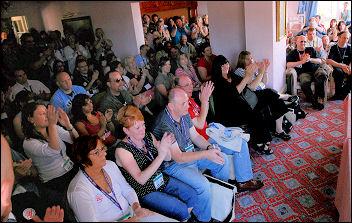 Unison conference 2008 anti-witchhunt protest, photo Paul Mattsson