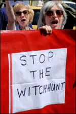 Unison conference 2008 anti-witchhunt protest, photo Paul Mattsson
