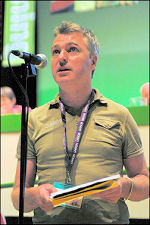 Glenn Kelly at Unison conference 2008, photo Paul Mattsson
