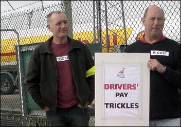 Shell oil tanker drivers
