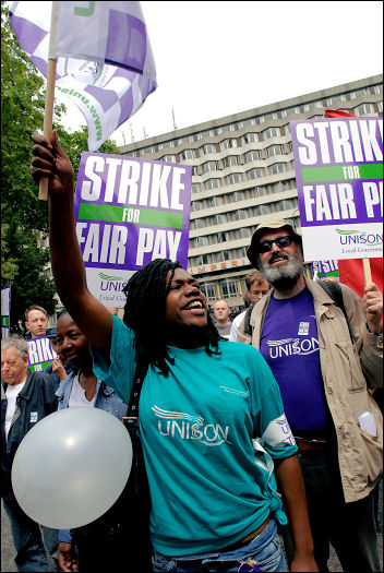 Unison Local Government strike 16-17 July in London, photo Paul Mattsson