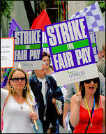 Unison Local Government strike 16-17 July in London, photo by Paul Mattsson