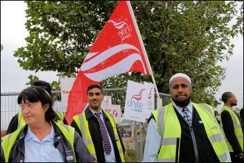 London bus strike, photo Paul Mattsson