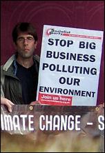Biofuels demo in Beckton, photo Paul Mattsson