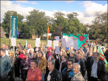 Sussex University Unite members protest against attacks on their pensions, photo Peter Knight