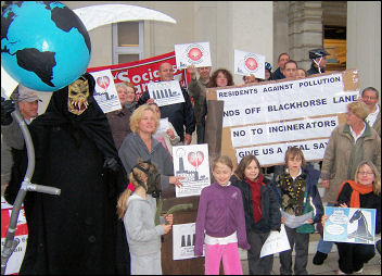 Waltham Forest Residents Against Pollution protest against incinerators, photo Bob Severn
