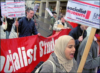 Cambridge Socialist Students protest, photo Cambridge Socialist Party