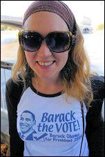 US president Barack Obama supporters, photo Paul Mattsson