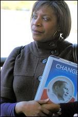 US president Barack Obama supporter, photo Paul Mattsson