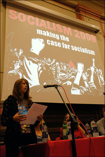 Natalie Powell-Davies at Socialism 2008, photo Paul Mattsson