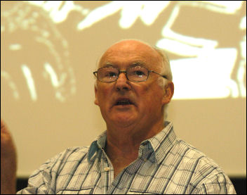 Peter Taaffe at Socialism 2008, photo Paul Mattsson