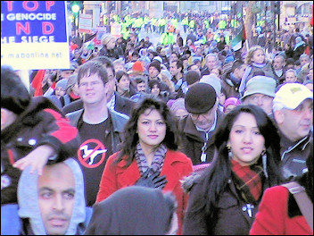 Stop the Slaughter in Gaza demonstration, photo Socialist Party