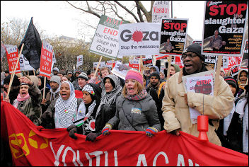Stop the Slaughter in Gaza: London demo, photo Paul Mattsson