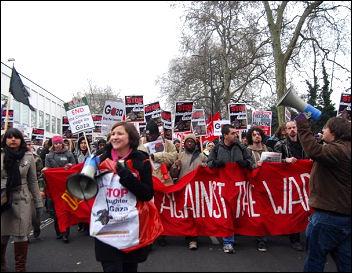 Demonstration against war on Gaza, London, 10 Jan 2009, photo Sarah Mayo