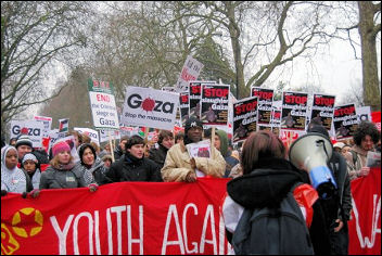 Demonstration against war on Gaza, London, 10 Jan 2009, photo Sarah Mayo