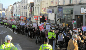 Brighton demo againats Israel
