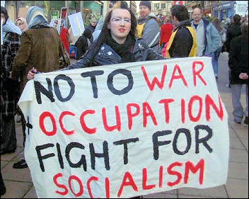 Lincoln Socialist Party against war and occupation, photo Lincoln Socialist Party