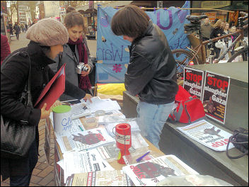 Northampton Socialist Party at the Gaza demo