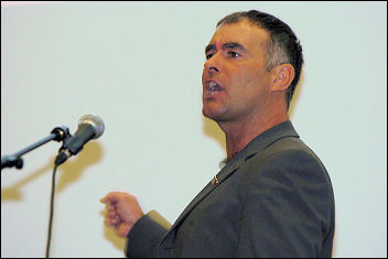 Tommy Sheridan speaking at Socialism 2006