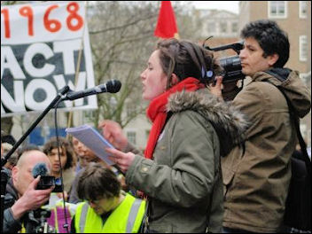 Laura Fitzgerald from Socialist Youth (Socialist Students
