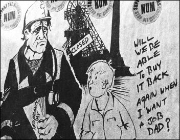 Miners strike 1984-85: Detail from Alan Hardman cartoon