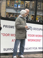 Dundee workers at Prisme occupy to fight for their rights, photo International Socialists