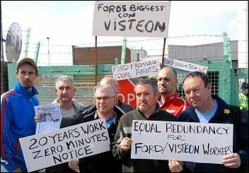 Workers picket Visteon at Basildon, photo Greg Maughan