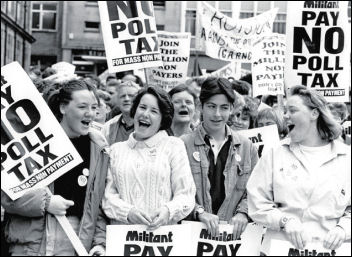 The Battle to defeat the poll tax, photo Steve Gardiner