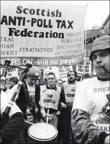 The Battle to defeat the Poll Tax, photo Phil Maxwell