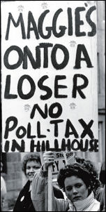 The battle to defeat the Poll Tax, photo Dave Sinclair